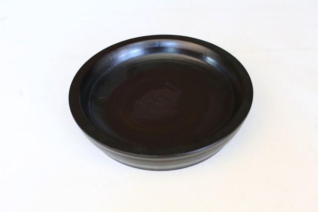赤木明登 パン皿小 黒