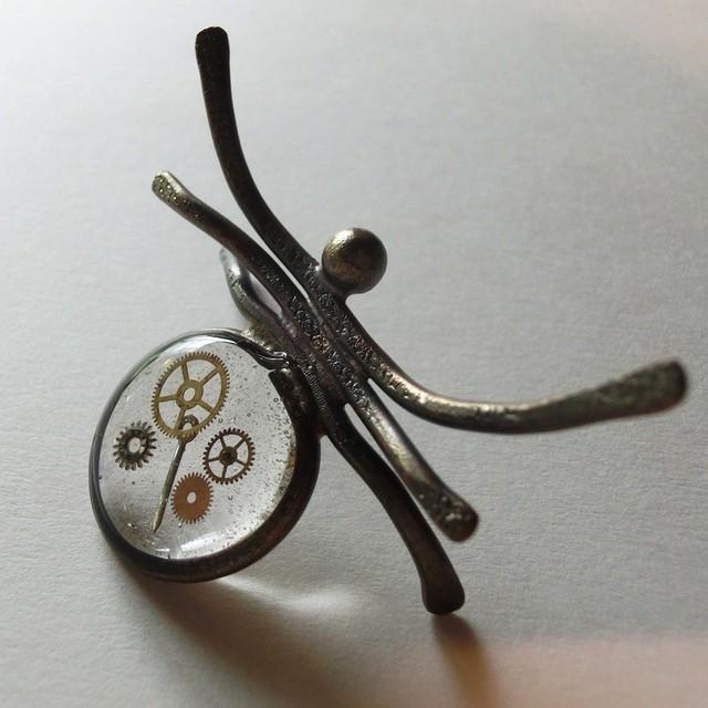 【クモ】f ~ オーナメント ☆ 真鍮 レジン #1458