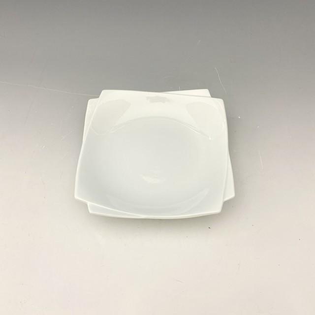 【中尾純】白磁角皿(小)