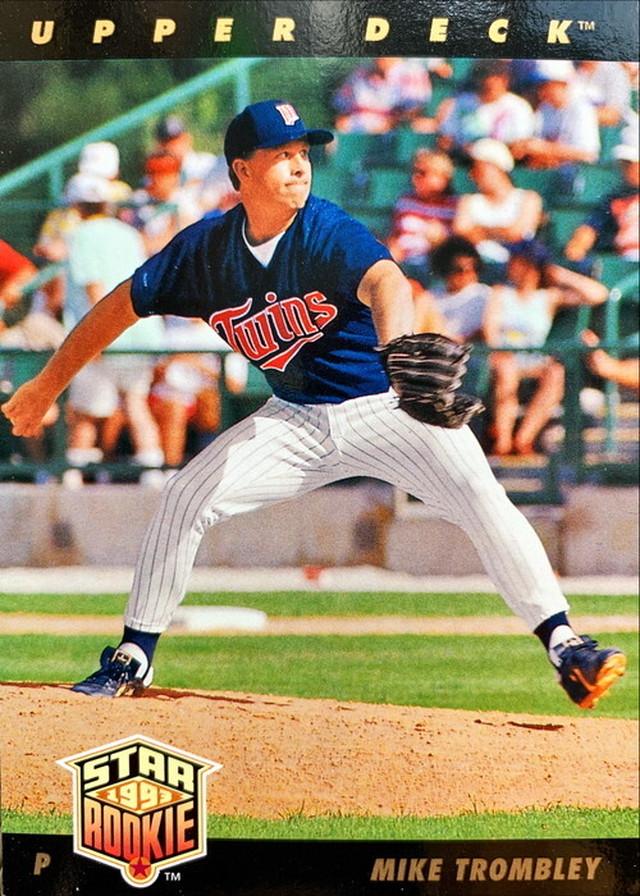 MLBカード 93UPPERDECK Mike Trombley STAR ROOKIE  #028 TWINS