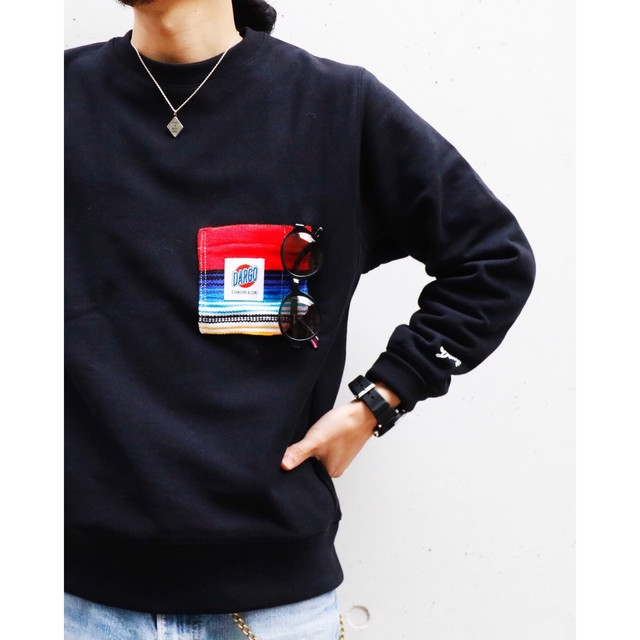 【DARGO】Working Pocket Heavy Weight Sweat Shirt (MEXICAN SERAPES / BLACK)