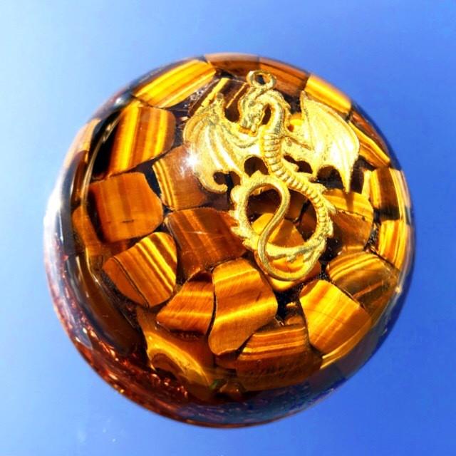 ドーム型オルゴナイト・181《7㎝》~神龍~