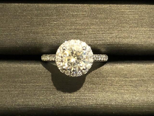 モアサナイト 1カラット 18k オーダーリング 婚約指輪