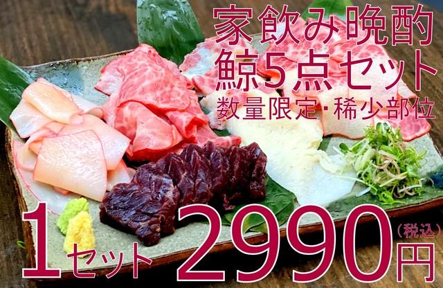 (0116)【数量限定・稀少部位】家飲み晩酌『鯨』5点セット 大特価2990円(税込)