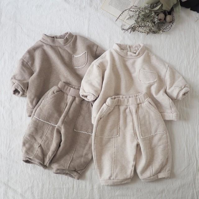 anggo.切りっぱなしsweat set up[80-110]