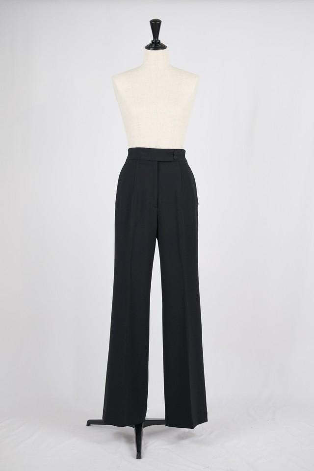 【Mame Kurogouchi】High Waisted Center Creased Suit Trousers - black