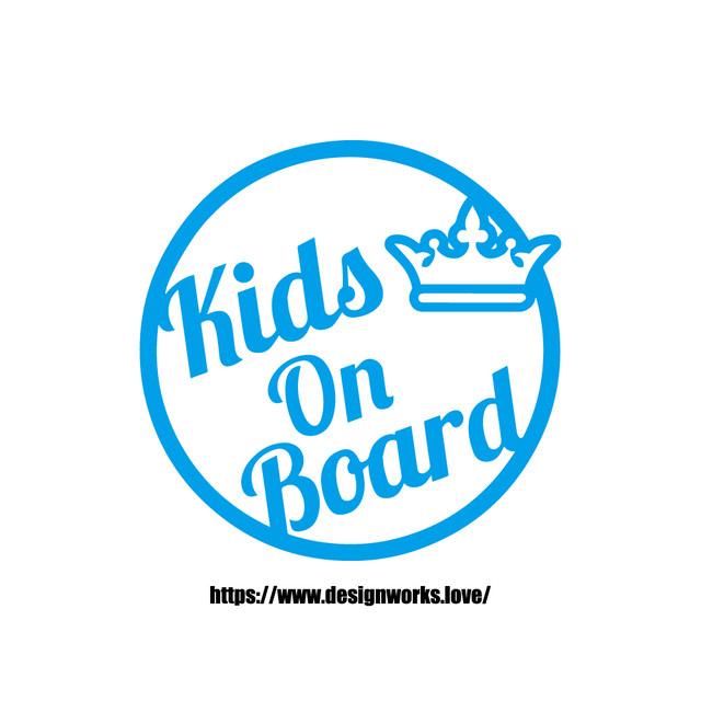 全10色 KIDS ON BOARD サークル ステッカー