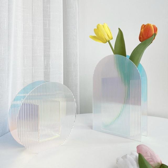 clear flower base 4type