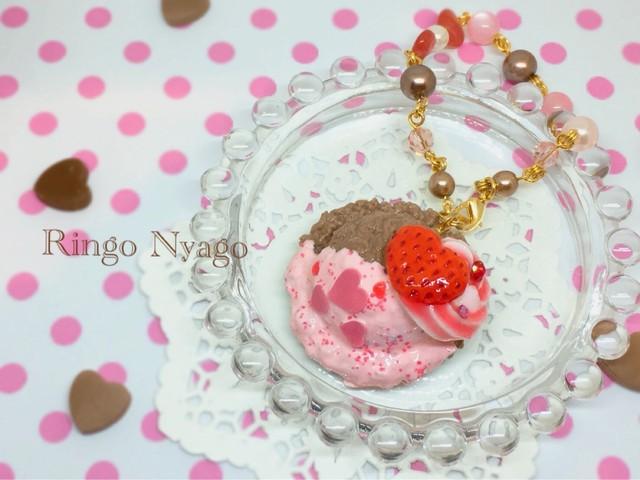 【Ringo Nyago】チョコベリーアイス バッグチャーム i0602113