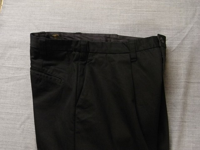da intuck cotton pants / inkblack