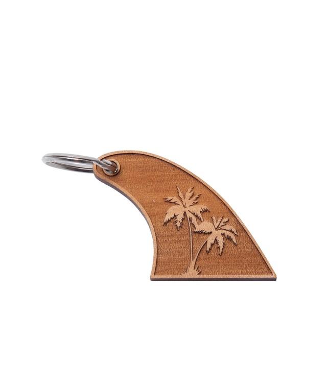 "WOOD FIN KEY RING ""PALM TREE""[REG080]"