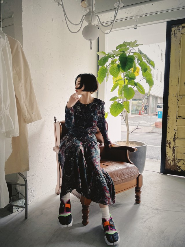 """E.D.MICHAELS"" USA vintage paisley dress"