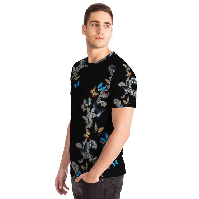 蝶装飾 ユニセックスTシャツ