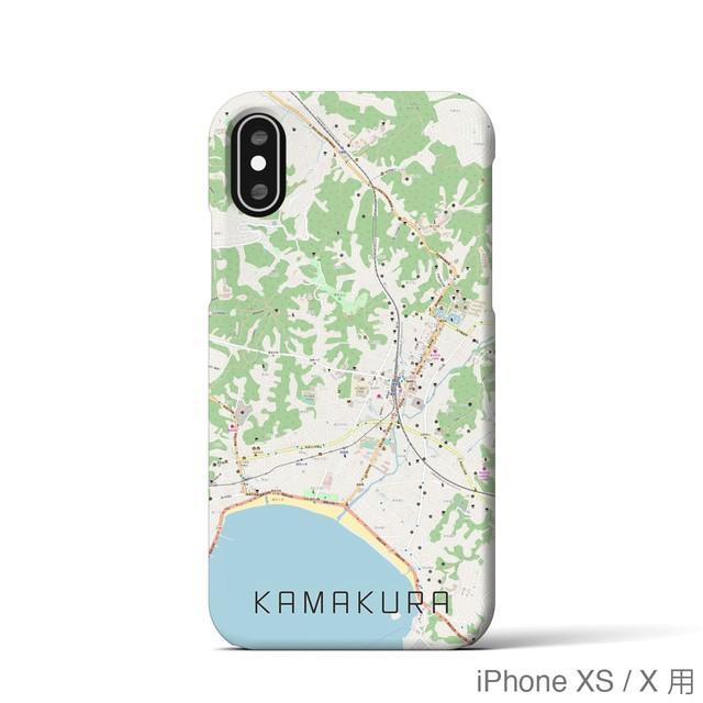 【鎌倉】地図柄iPhoneケース(バックカバータイプ・ナチュラル)