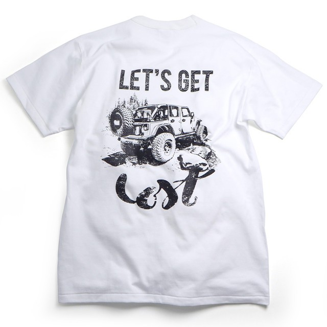 CAMPSオリジナルTシャツ【Let's get Lost】Jeep ラングラー