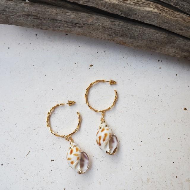 Shell Pierced Earring《GLD》19385132