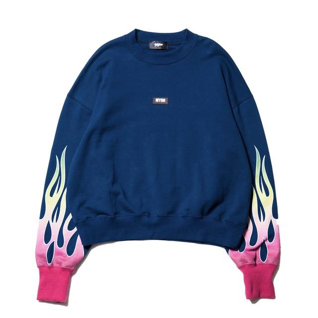 Fire sweat pullover / NAVY - メイン画像
