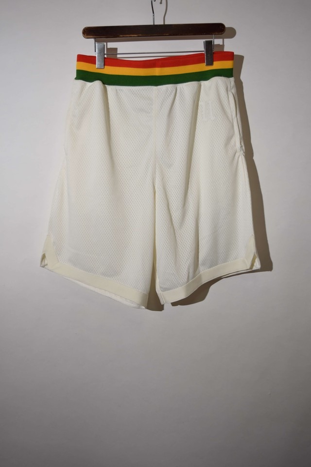 【Lサイズ】UNDEFEATED MESH SHORTS メッシュショーツ WHITE/RASTA 400613190705