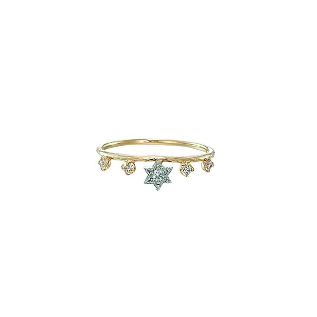 K18 & Pt.900 My Little Star Ring