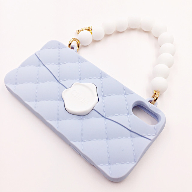 SEAL STAMPED WHITEBEADS HANDLE for iPhoneXS/iPhoneX