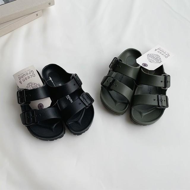 Light Sandal (ブラック/サンダル) OCEAN&GROUND:1034001