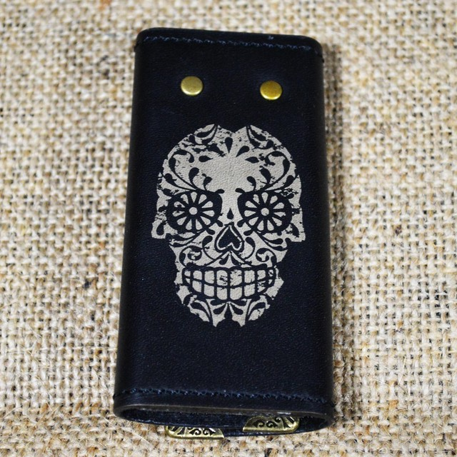 【Yami】4chain skull leather key case ( 4連スカルレザーキーケース)