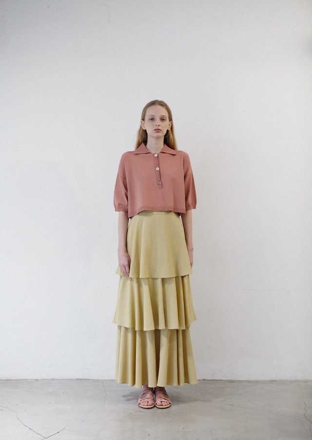 Layered skirt (Beige)
