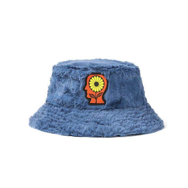 BRAIN DEAD REVERSIBLE SUNFLOWER BUCKET HAT - BLUE