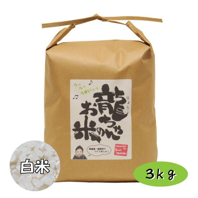 龍ちゃんのお米 白米 3kg