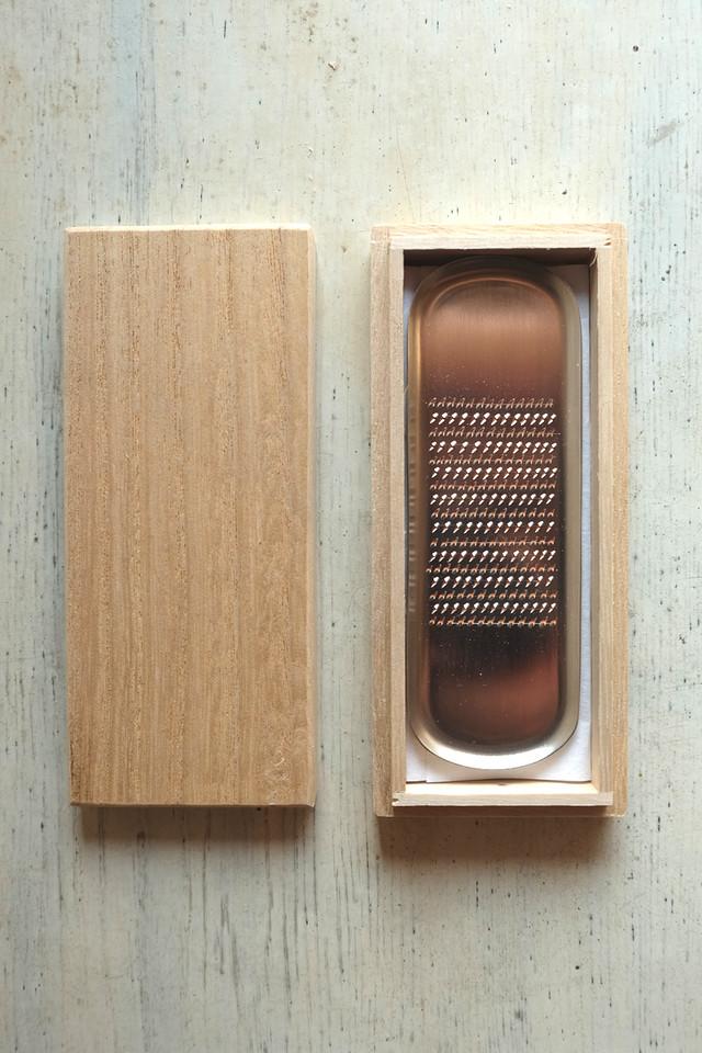 純銅製 卓上おろし金・小判型(大矢製作所)