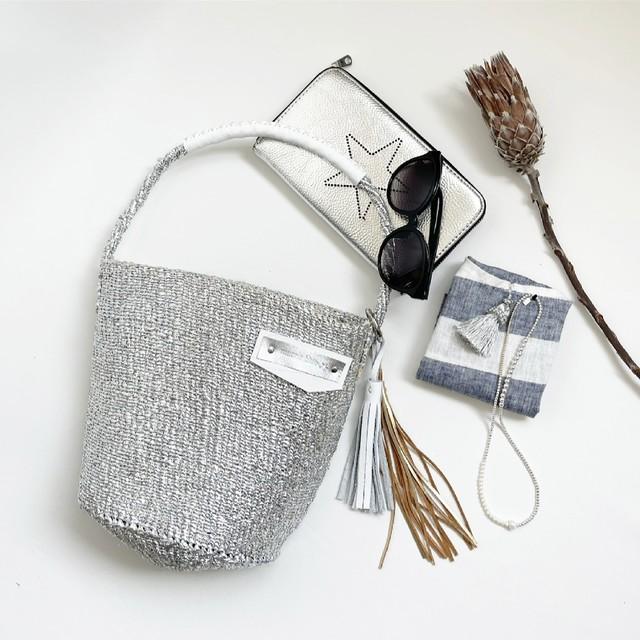 [ 限定即納 ] No.5 & Fox Fur Bag / ワンハンドル / グレー