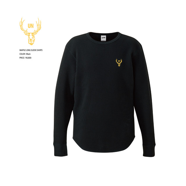 unfudge LONG SLEEVE SHIRTS / BLACK