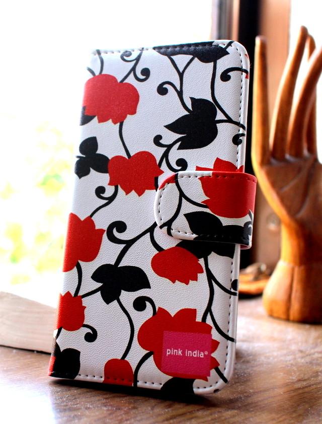 北欧デザイン pinkindia iPhoneケース手帳型  Matthew red