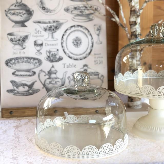 フレンチアイアンディスプレイガラスドーム