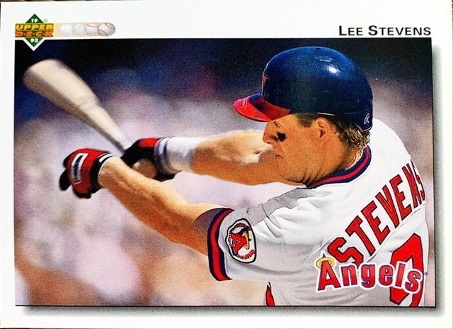 MLBカード 92UPPERDECK Lee Stevens #634 ANGELS