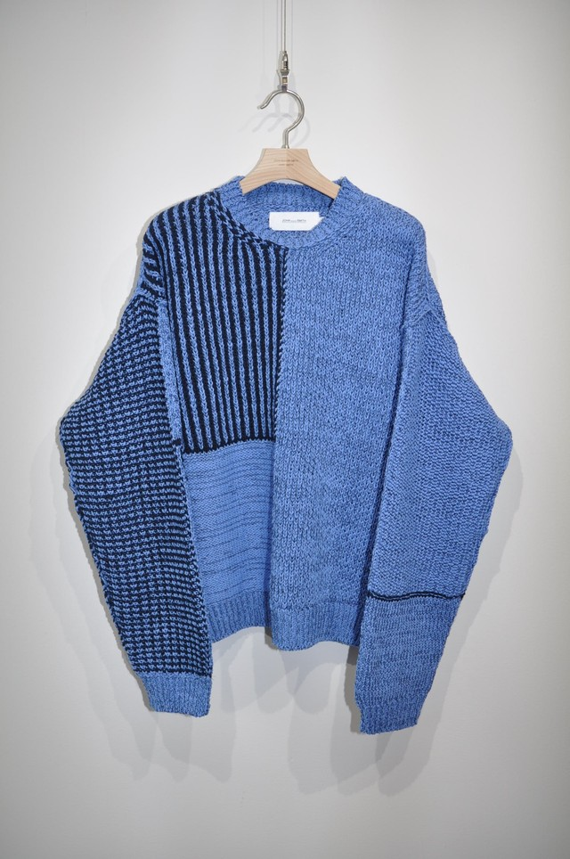 残り1着【JOHN MASON SMITH】MIX PATARN KNIT