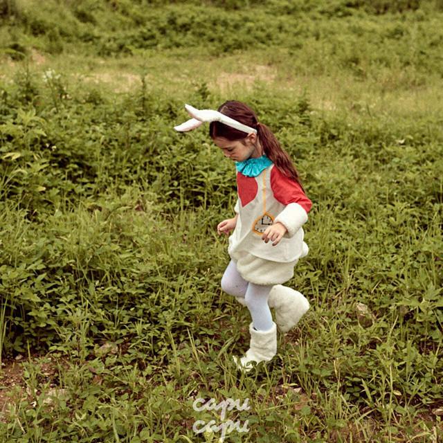 «予約»«pourenfant»«ハローウィン»«不思議の国のアリス» 白ウサギのセットアップ