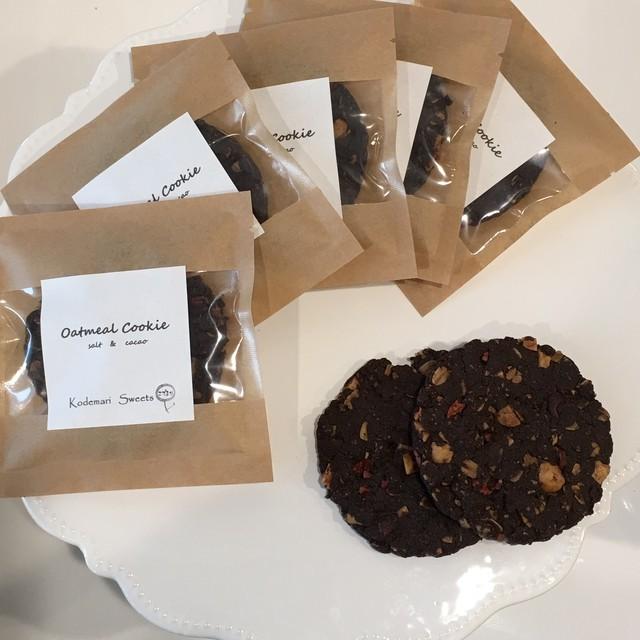 米粉のオートミールクッキー(salt&cacao)