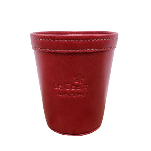 コンビニコーヒーあなた専用レザーカップ(レッド)