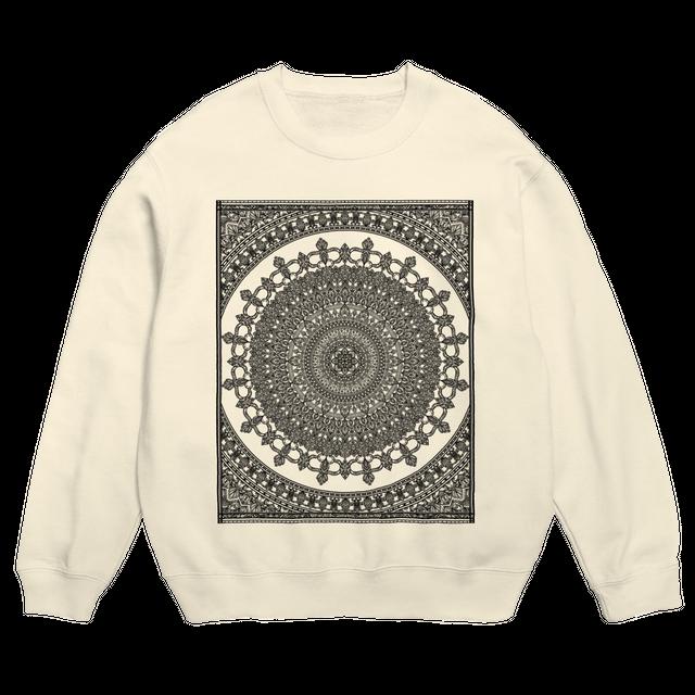 Mandala no.002 スウェットシャツ ナチュラル