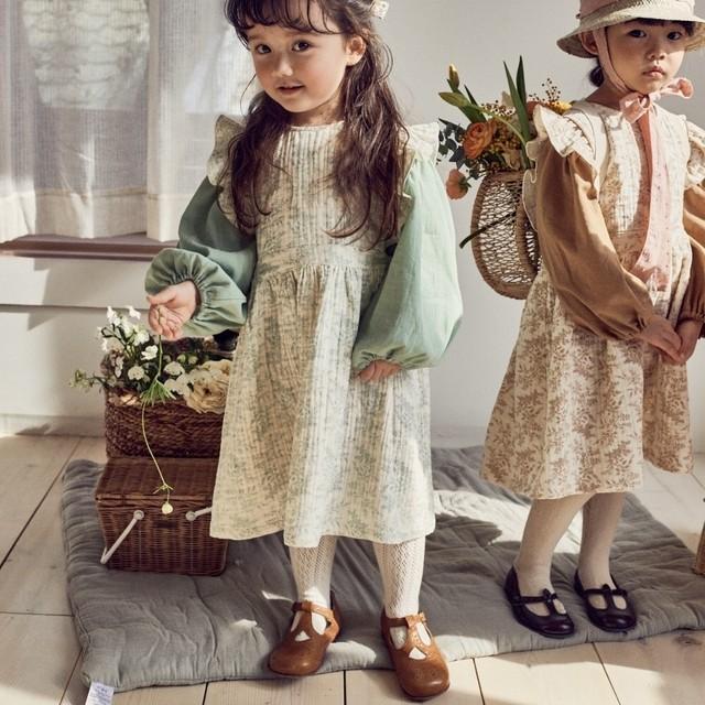【新作予約】【pourenfant】Anne blouse コットンブラウス 春 ベビーカラーくすみカラー  ナチュラル 韓国子供服