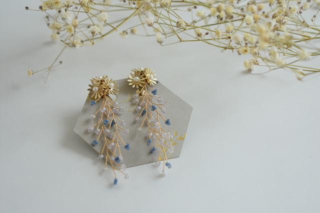 flower小枝イヤリング/Lily