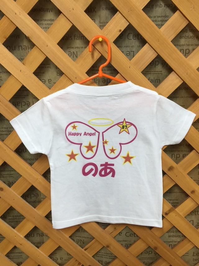 再販 名前入れ Hi-HiオリジナルTシャツ 女の子天使の羽ver
