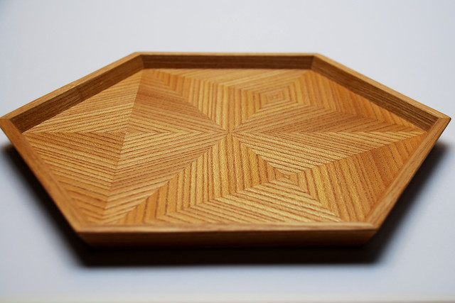 Ziricote hexagonal tray 0033