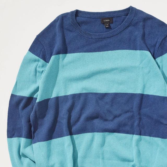 【Mサイズ】J.CREW ジェイクルー Border Sweater ボーダーセーター BLU ブルー M 400604191103
