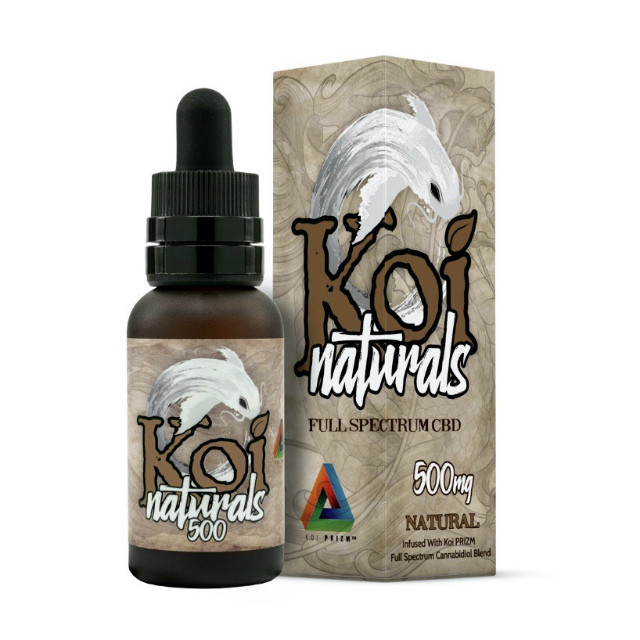 『舌下で摂取』Koi Naturals CBDオイル ナチュラル(無味) 30ml / 500mgCBD 【Koi CBD】