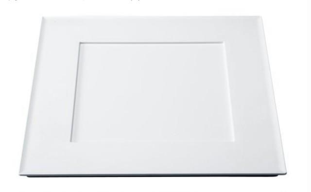 33cm 角プレイスプレート 白