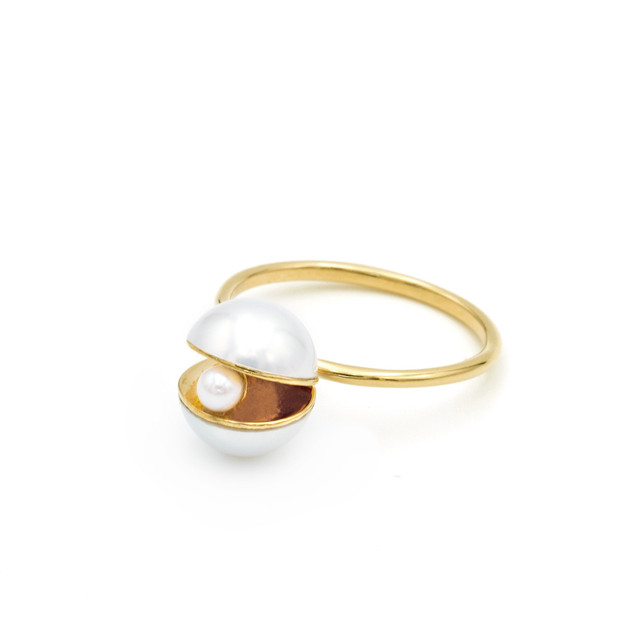 Pearl×Pearl Pearl Ring(white)