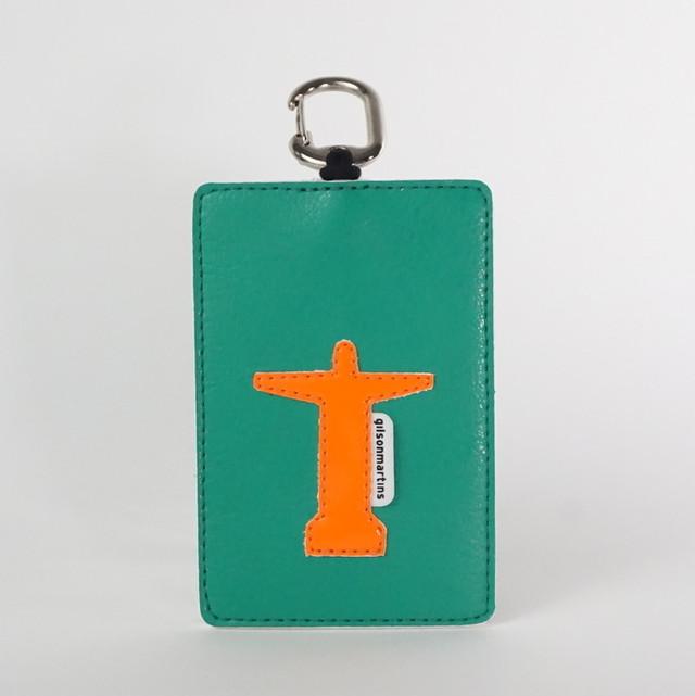 CARD HOLDER RIO カードホルダーリオ キリスト 緑・オレンジ