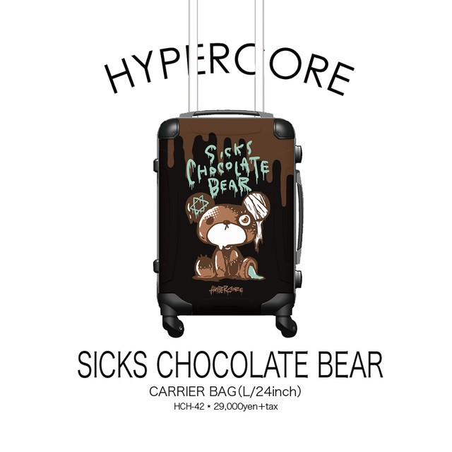 HCH-42 SICKS CHOCOLATE BEARキャリーバッグ(L/24インチ)